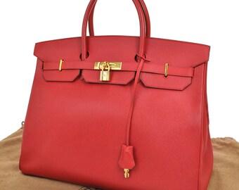 Hermes Birkin 40 Red & Gold Couchevel