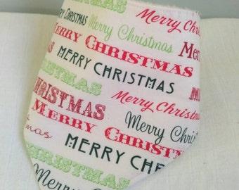 Christmas baby dribble bib - bandana bib