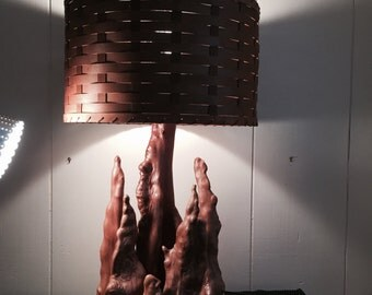 ON SALE --- Magnificent and Very Large Cypress Knee Lamp