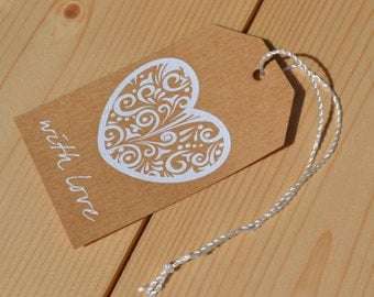 Gift Tag Label (With Love)