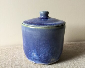 Handmade starry blue porcelain jar