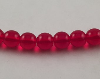 Ruby Red Glass Beads, Czech Glass Beads, Czech Red Beads, Czech Beads, Beads, Ruby Red Beads, Red Beads