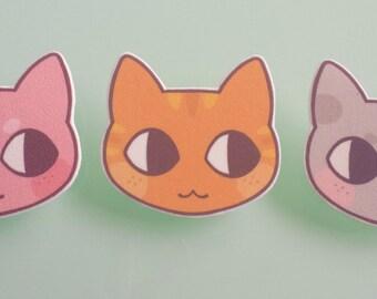 Cat brooch pin - cat jewelry