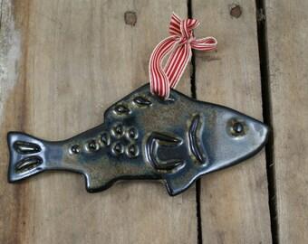 Pottery Fish Ornament