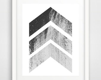 Contemporary wall art, chevrons print, black and white prints, cool posters, cheap wall art, geometric art, living room art, dorm decor