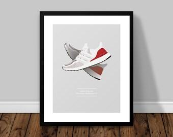 adidas Originals Ultra Boost Mulitcolour 2.0 Illustrated Poster Print | A6 A5 A4 A3
