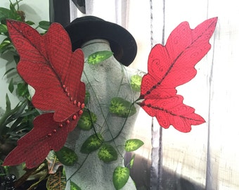 Red Oak Leaf Fairy Wings - Sale Item / Size M/L