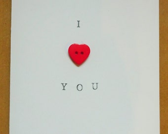 Love Card, Valentine's Day Card, I Love You, Anniversary Card
