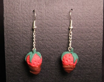 Strawberry Chocolate Dipped Earrings