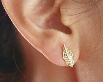 Fallen Leaves Stud Earrings For Women.