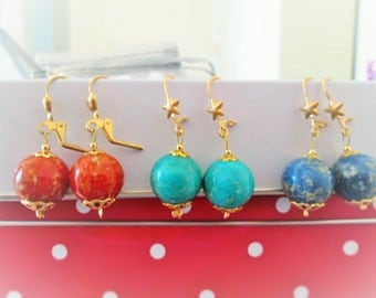 Small bauble earrings