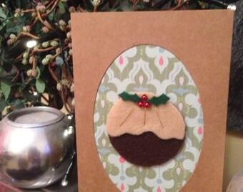 Christmas pudding card