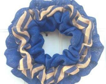 Beautiful handmade burlap wreath.