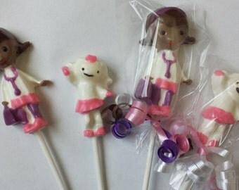 Doc McStuffins,  Lambie & Bandaid Toy hospital Chocolate Lollipop Party Favors
