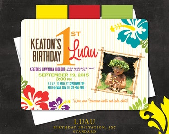 LUAU . birthday invitation