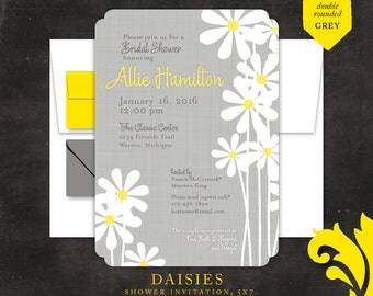 DAISIES . bridal or baby shower invitation