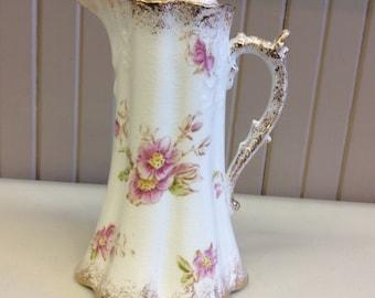 Reserved for Chiara Marrone-Antique Warwick china tea pot