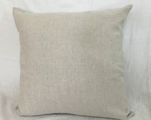 Natural Linen Euro Sham Covers, NO Dye, No Coloring, accented pillow covers, square pillow covers, 12x16, 16x16, 18x18, 20x20, 24x24, 26x26