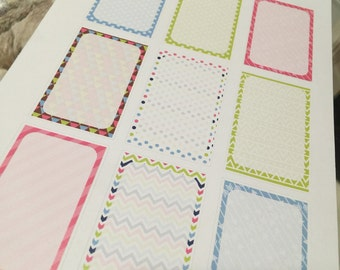 Full Box Planner Stickers Bright Pinks and Blue and Green