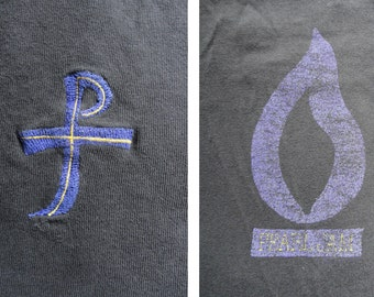 Pearl Jam / rare vintage t-shirt / PJ cross and flame / early 1990s / L
