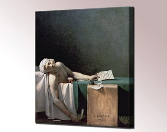 Death of Marat Canvas Wall Art Print Picture Framed Ready To Hang Home decor