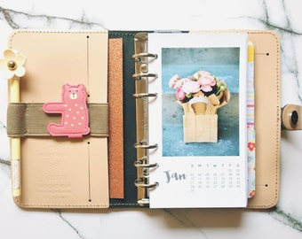Personal Monthly Planner Calendar Floral Photography Inserts