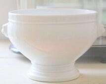 Rare Vintage French Pillivuyt Porcelain Tureen, Lion's Head Tureen, Mehun, CP&Co, France