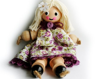 SALE Cotton Reel Doll, Bobbin, Spool Doll