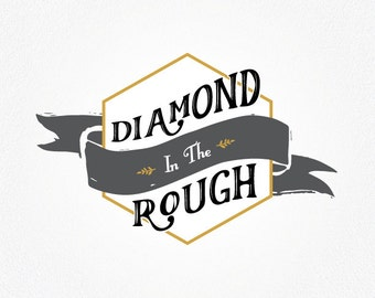 Retro Logo Design | Retro Logo | Vintage Logo | Logo Design | Diamond Logo | Vintage Logo Design | Business Logo | black and gold logo