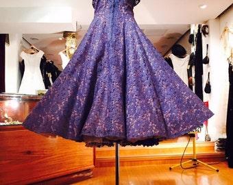1940's Vintage Couture Dress