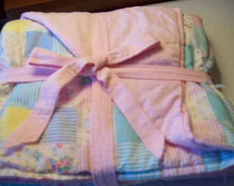Baby blanket cotton and flannel