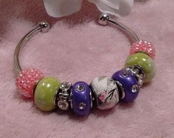 Multicolor bangle bracelet
