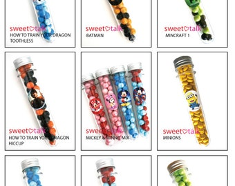 Party Favour - Candy Test Tube with Chocolates. Perfect for Birthday Party Loot Bags