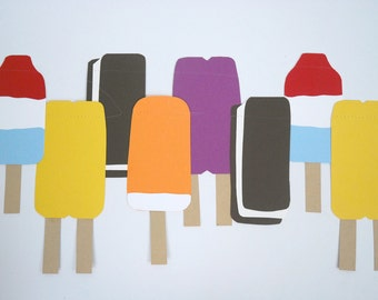 paper popsicle garland