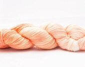 "Fingering Weight Merino Sock Yarn Thanks for Mutton ""Peaches and Cream"""