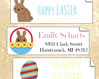 Happy easter stickers, easter labels, easter stickers, easter address labels , cute easter stickers, easter decoration, custom stickers