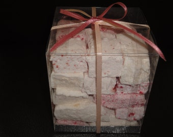 Gourmet raspberry and apricot marshmallows
