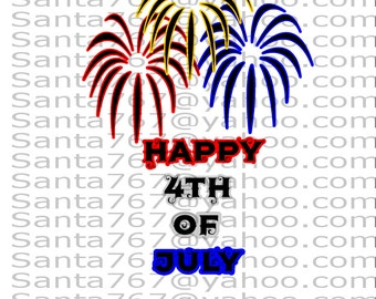 Happy 4th Of July Fireworks SVG