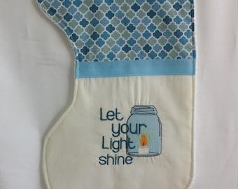 Mason Jar Burp Cloth * Mason Jar Baby * Baby Shower Gift * Gender Neutral Baby * Unique Baby Gift * Mason Jar Burp * Let your light Shine