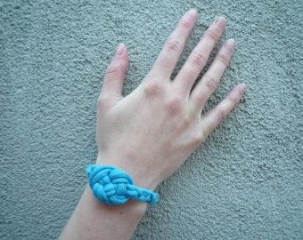 Blue Knotted Bracelet