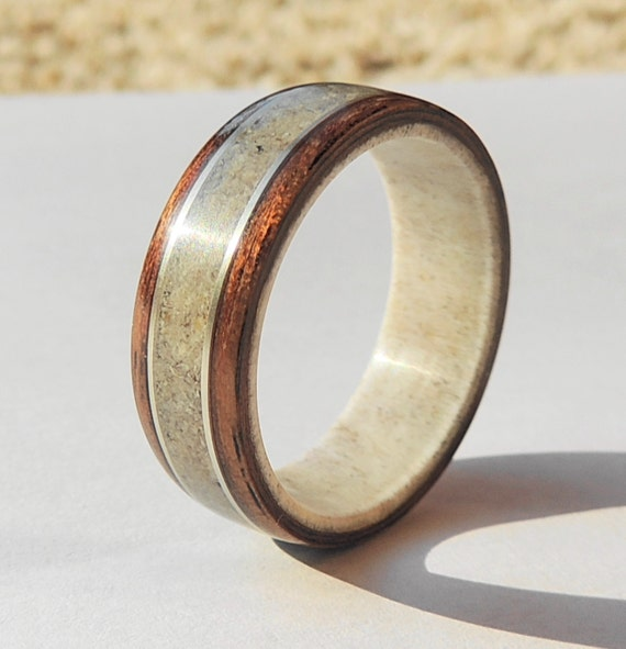 Bentwood Ring On Antler Linerblack Walnut And Deer Antler. Neckless Silver. String Chains. Personalized Bangles. Sets Gold Jewellery. Watch Pendant. Two Tone Bangles. Old Vintage Watches. Nepali Necklace
