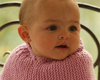 Drops baby neck warmer, merino wool, hand knitted