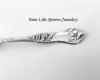 "Spoon Bracelet ""Briar Cliff/Briar Rose"" Handmade Bracelet Vintage Jewelry Spoon Jewelry Fork Handles Spoon Ring Silver Jewelry-118"