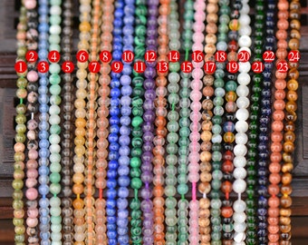 Tassel Beads Tiny Small 2mm Natural Stone Seed Beads for Jewelry Craft Making (JY1)