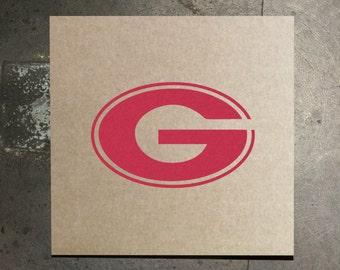 Georgia Bulldogs G Logo - Cardboard