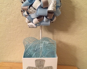 Baptism Topiary- we can do any color or theme!