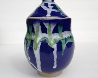 Small Handmade lidded ceramic Jar