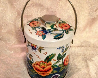 Murray Allen Tin, English Confection Tin, Tea Tin, Decorative Tin, Floral Tea Tin, Candy Tin