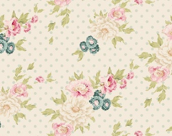Tilda Spring Lake - Cybill Dove White Cotton fabric