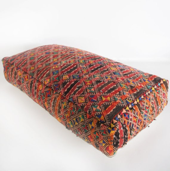 Floor Pillows Moroccan : Moroccan XXL Floor Kilim Pillow 3 47.2 x 23.6 x by ElRamlaHamra